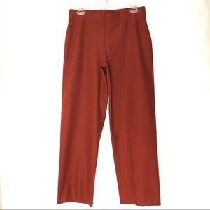 Eileen Fisher Orange Wide Leg Pants
